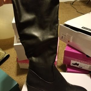 Bamboo tall boots sz 8